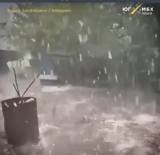 Krasnodar'da Şiddetli Yağmur ve Doludan Zarar Görenlere Destek Verilecek