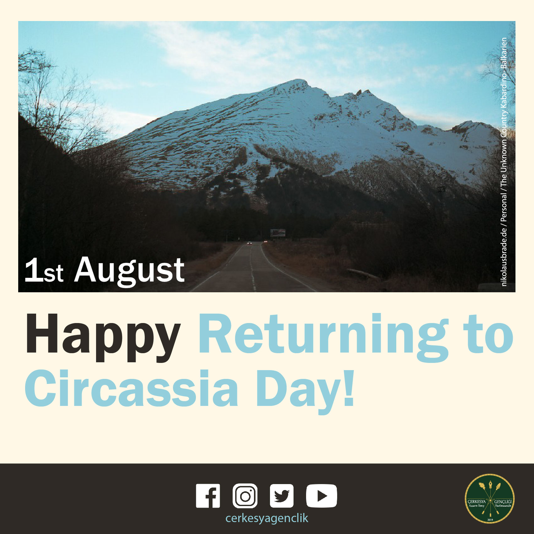 1st of August: Building Future; Homeland; Circassia